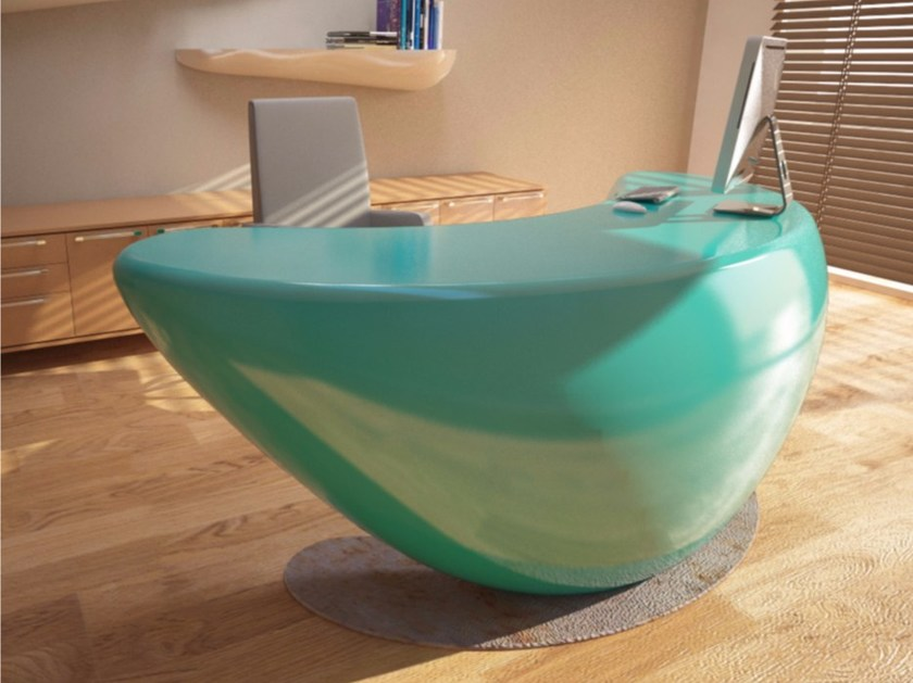 Lacquered Adamantx® executive desk BOOMERANG - ZAD ITALY
