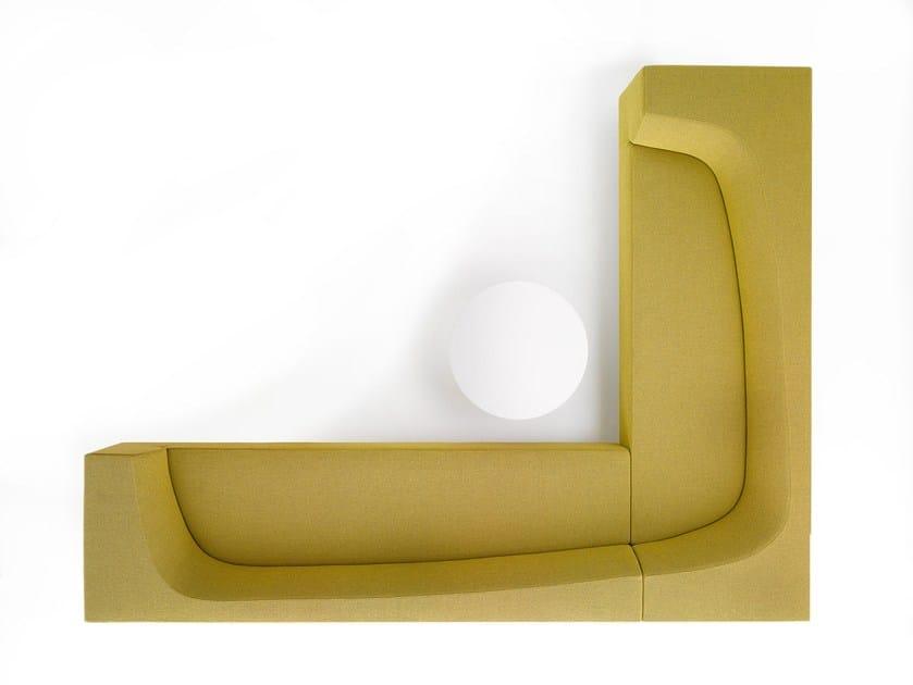 Corner sectional fabric sofa with removable cover BORA BORA | Corner sofa - MDF Italia