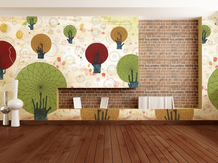 Landscape nonwoven wallpaper BOSCO by MyCollection.it