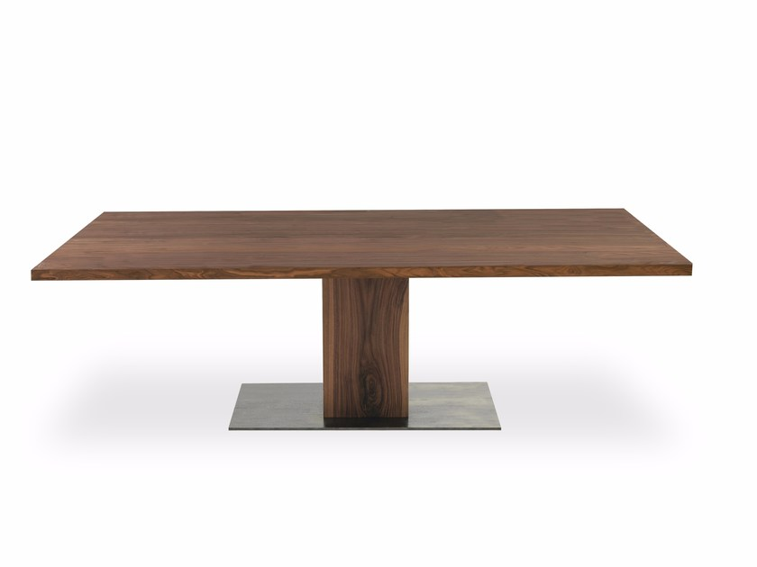 Rectangular solid wood table BOSS EXECUTIVE | Rectangular table by Riva 1920