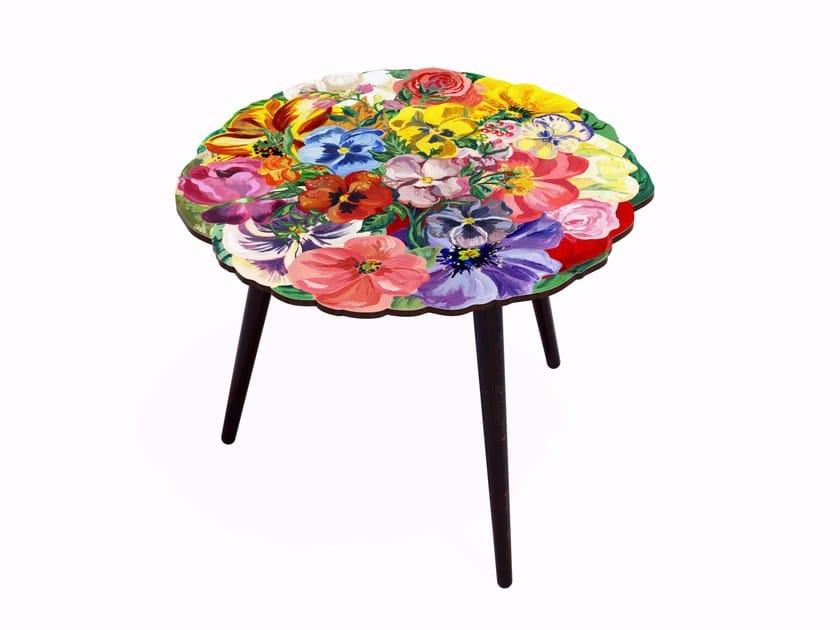 Tavolino rotondo in HPL e faggio BOUQUET XL | Tavolino rotondo - Bazartherapy