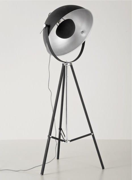 Indirect light steel floor lamp BOWL BLACK - KARE-DESIGN