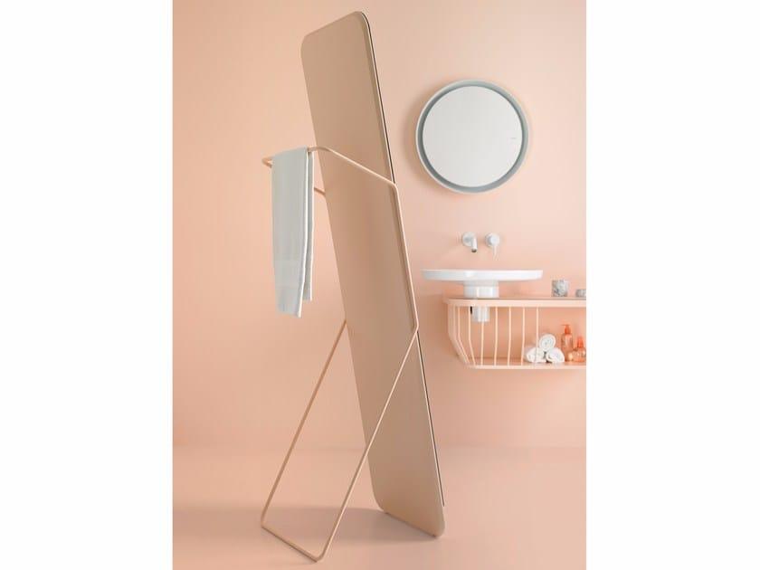 Freestanding bathroom mirror BOWL | Freestanding mirror - INBANI