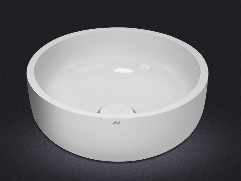 Countertop round resin washbasin BOWL ROUND 30 - Vallvé Bathroom Boutique