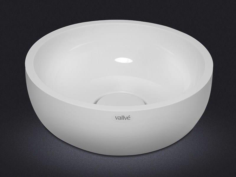 Countertop round resin washbasin BOWL ROUND 40 - Vallvé Bathroom Boutique