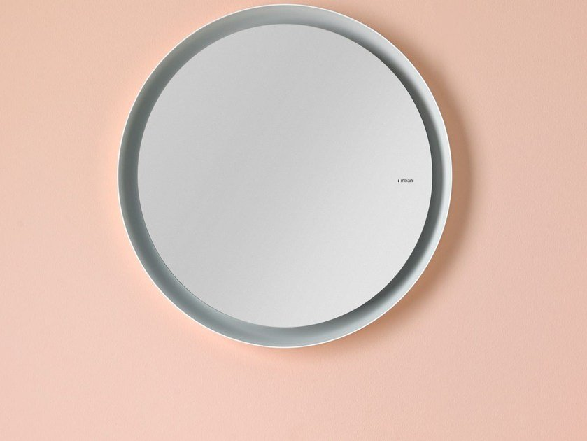 Wall-mounted framed mirror BOWL | Wall-mounted mirror - INBANI