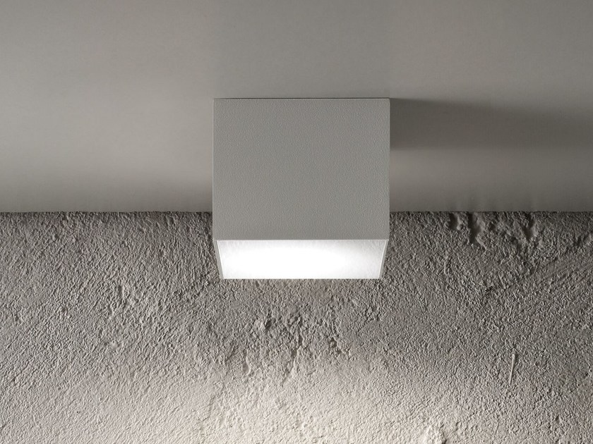 LED metal ceiling light BOX BIG - Olev by CLM Illuminazione
