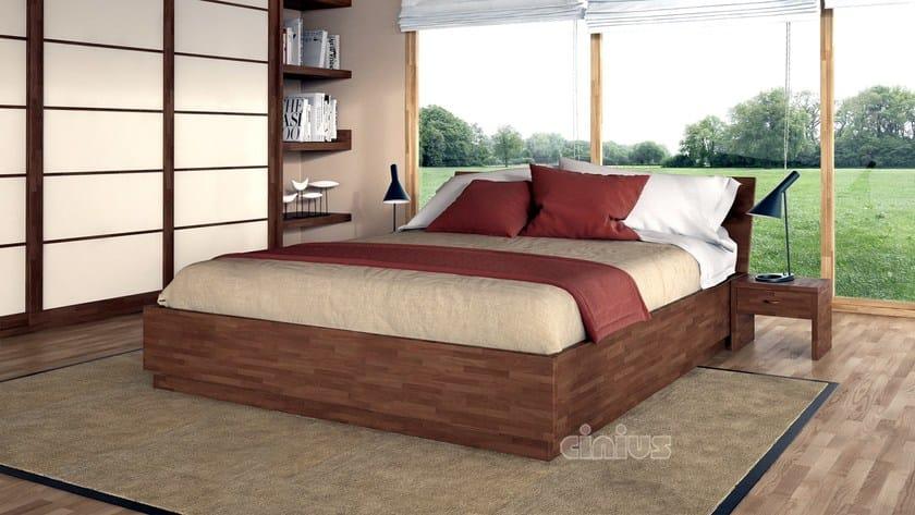 letto contenitore matrimoniale in legno box cinius