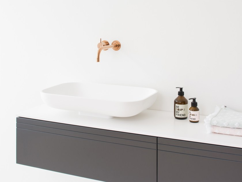 Countertop rectangular HI-MACS® washbasin BOX | Countertop washbasin by Not Only White