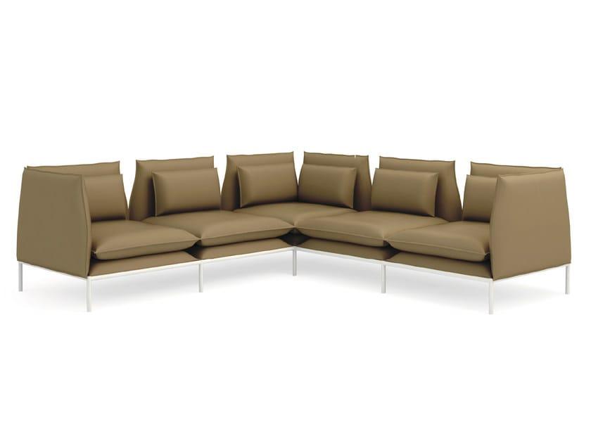 Corner leather leisure sofa BOX | Corner sofa - Quinti Sedute
