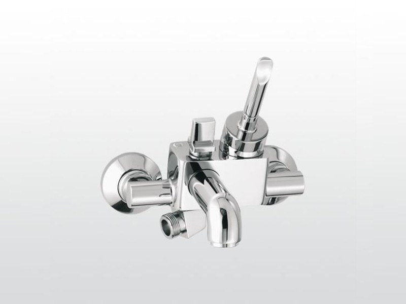 Wall-mounted shower mixer with aerator with diverter BOX | 3267 - RUBINETTERIE STELLA