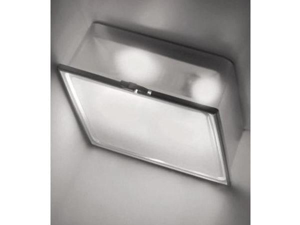 Glass and aluminium ceiling lamp BOX QUADRATA | Ceiling lamp - Ailati Lights