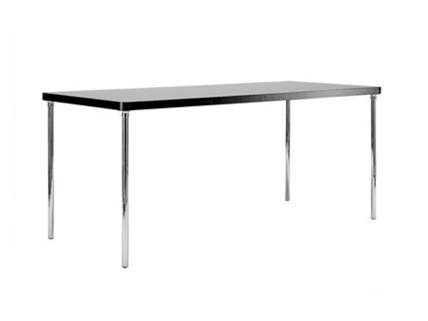 Rectangular steel and wood table BR19 | Steel and wood table - Matrix International