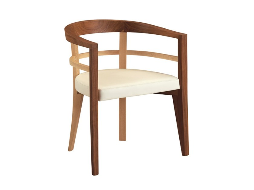 Maple easy chair with armrests BRAMANTE | Easy chair - Morelato