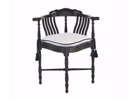 Sedia imbottita laccata in velluto BRANDON - Gianfranco Ferré Home