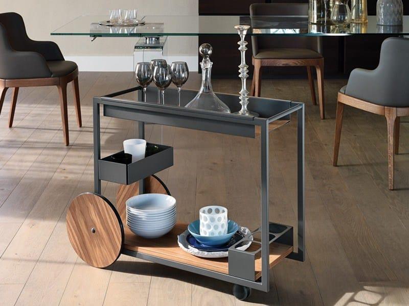 Steel drinks trolley BRANDY by Cattelan Italia
