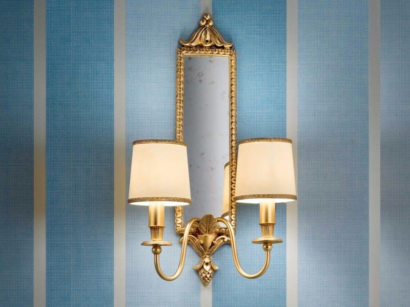 Direct light incandescent brass wall lamp BRASS & SPOTS VE 1076 - Masiero