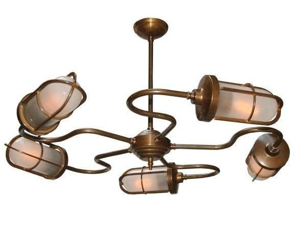 Direct light handmade chandelier BRECK BAR WELL GLASS LIGHT by Mullan Lighting