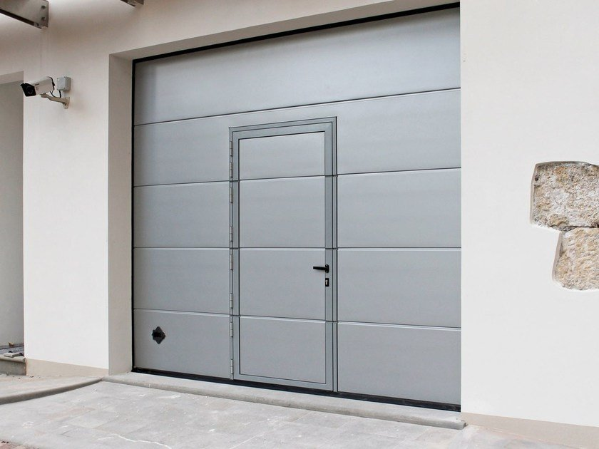Garage door with pedestrian door BREDA Garage door - Breda Sistemi Industriali