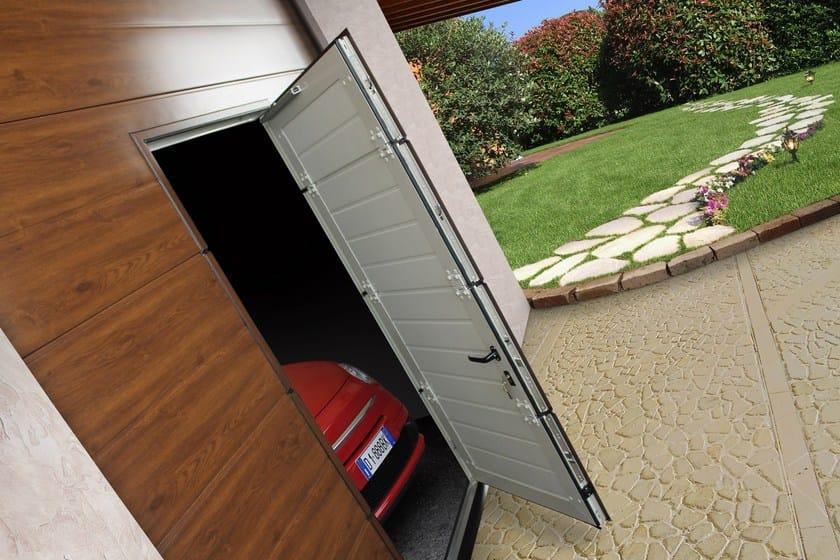 Portone per garage con porta pedonale per transito rapido porta pedonale breda breda - Porta garage sezionale prezzi ...