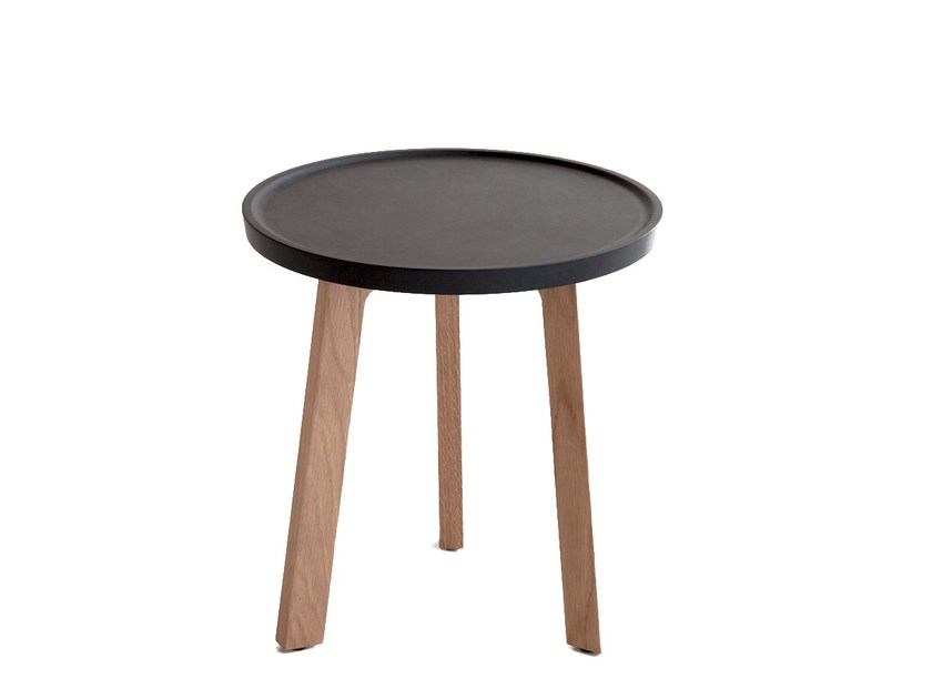 Low oak coffee table BREDA | Round coffee table - Punt