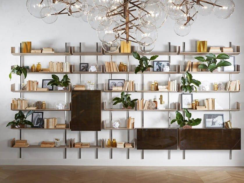 Libreria a parete modulare in legno brera gallotti radice for Libreria velux