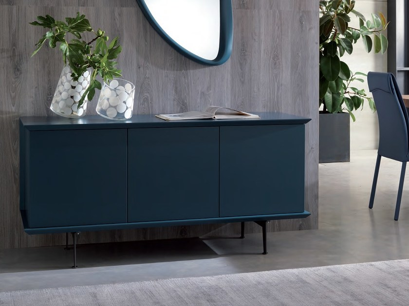 Lacquered wooden sideboard with doors BRERA | Lacquered sideboard - Ozzio Italia