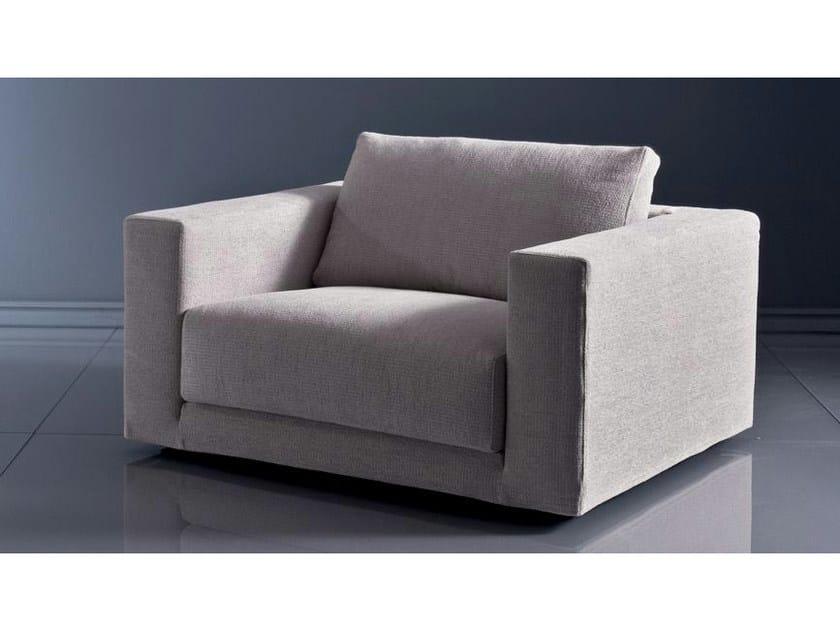 Fabric armchair with armrests BRERA | Armchair - Marac