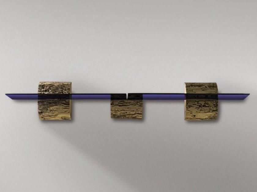 Wood and glass wall shelf BRICCOLE A MURANO - Riva 1920
