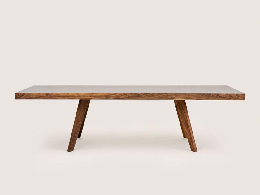 Rectangular wooden table BRIDGE | Rectangular table - MORGEN Interiors