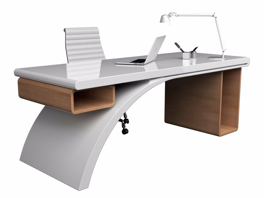 Lacquered Adamantx® workstation desk BRIDGE - ZAD ITALY