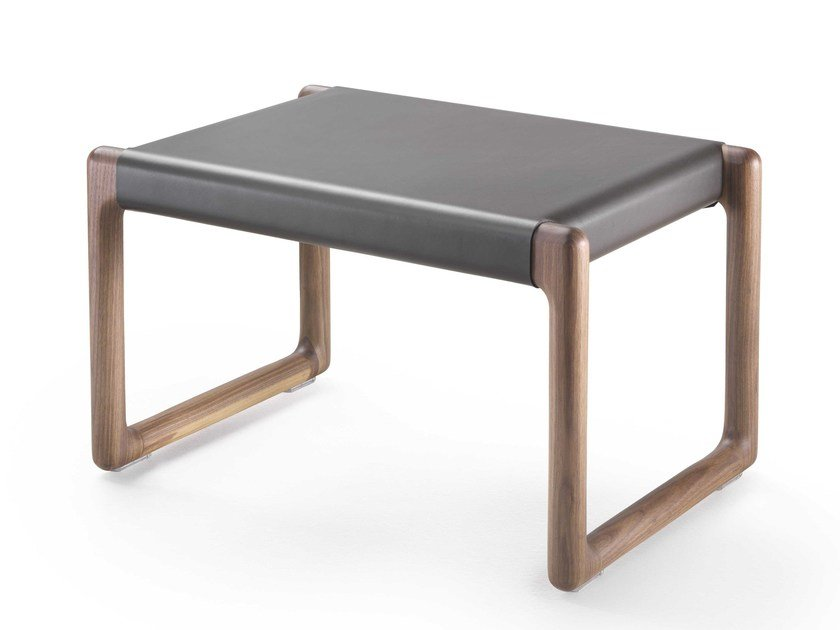 Tanned leather stool BRIG | Stool - FLEXFORM
