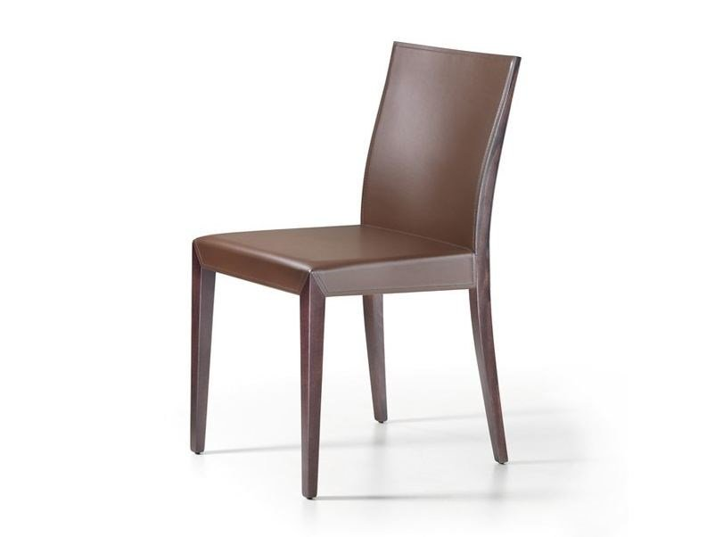Tanned leather chair BRIGITTA - Cattelan Italia