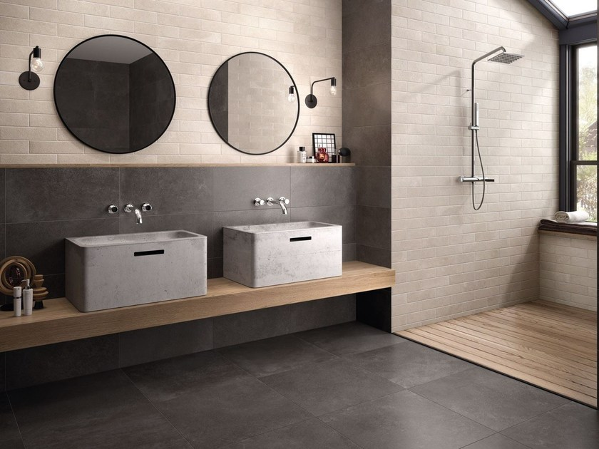 Wall/floor tiles with concrete effect BRIK MOOV IVORY - CERAMICHE KEOPE