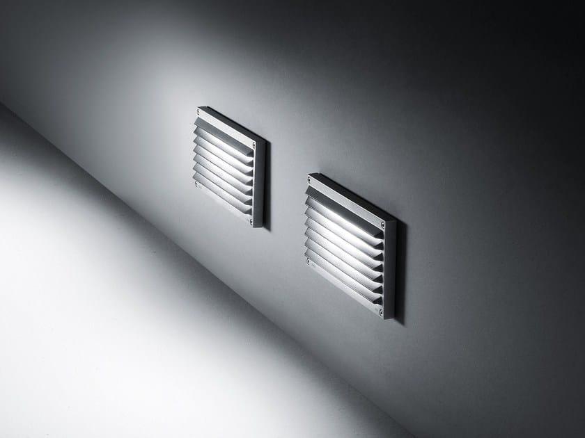 Wall-mounted die cast aluminium steplight BRIQUE | Wall-mounted steplight by SIMES