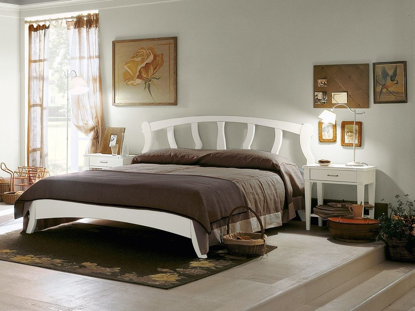 Wooden double bed BRISTOL | Double bed - Minacciolo