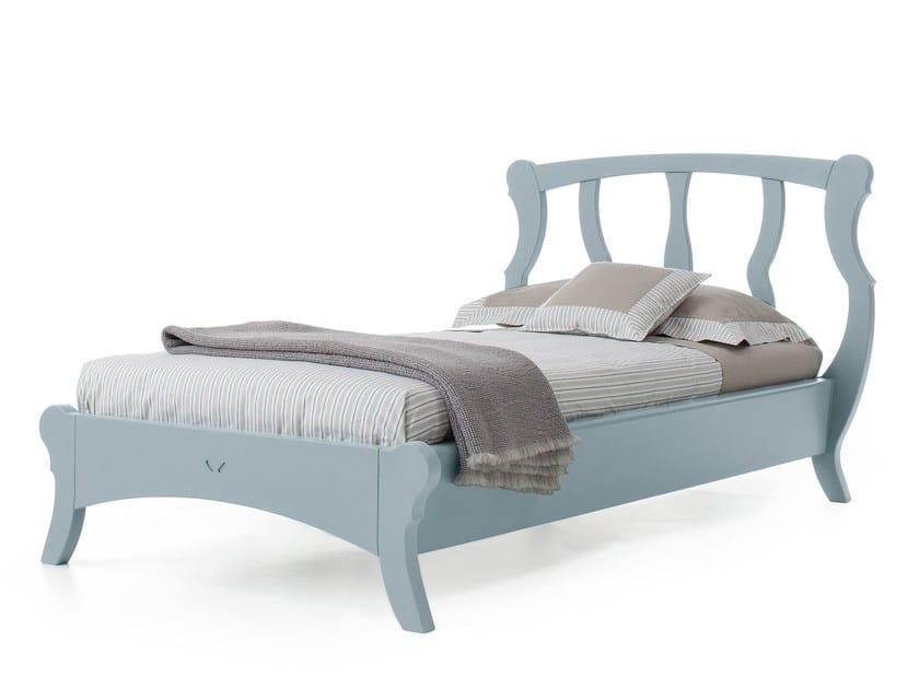 Wooden single bed BRISTOL | Single bed - Minacciolo