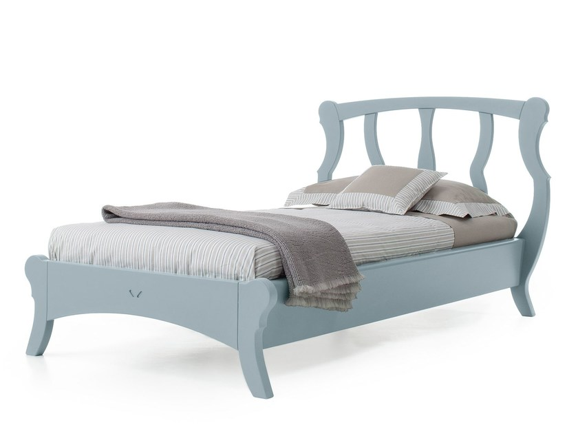 Wooden single bed BRISTOL | Single bed by Minacciolo