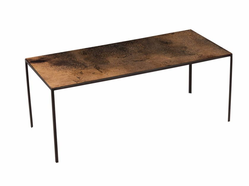 Rectangular coffee table BRONZE PATCHWORK COFFEE TABLE - Notre Monde