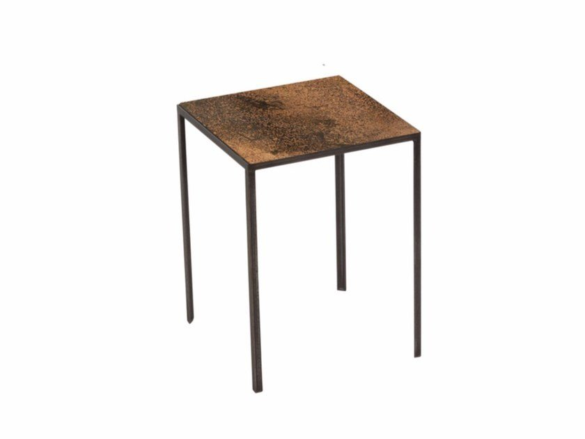 Square side table BRONZE PATCHWORK SIDE TABLE - Notre Monde