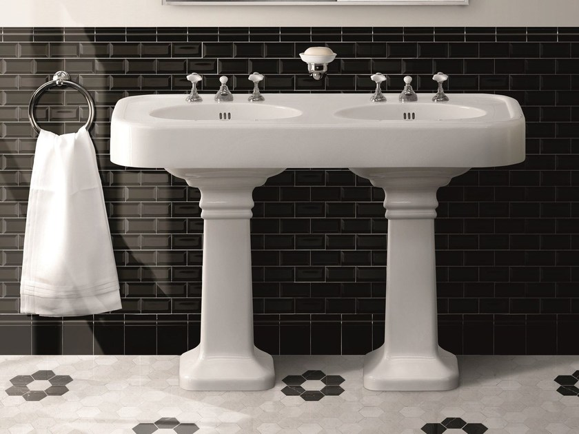 Double ceramic washbasin BROOKLYN - Devon&Devon