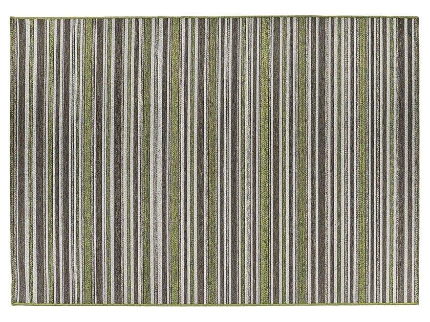 Rectangular synthetic fibre outdoor rugs BROOKLYN | Striped rug - ITALY DREAM DESIGN - Kallisté