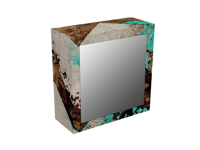 MDF wall cabinet with mirrored door BS-2V - MOMENTI di Bagnai Matteo