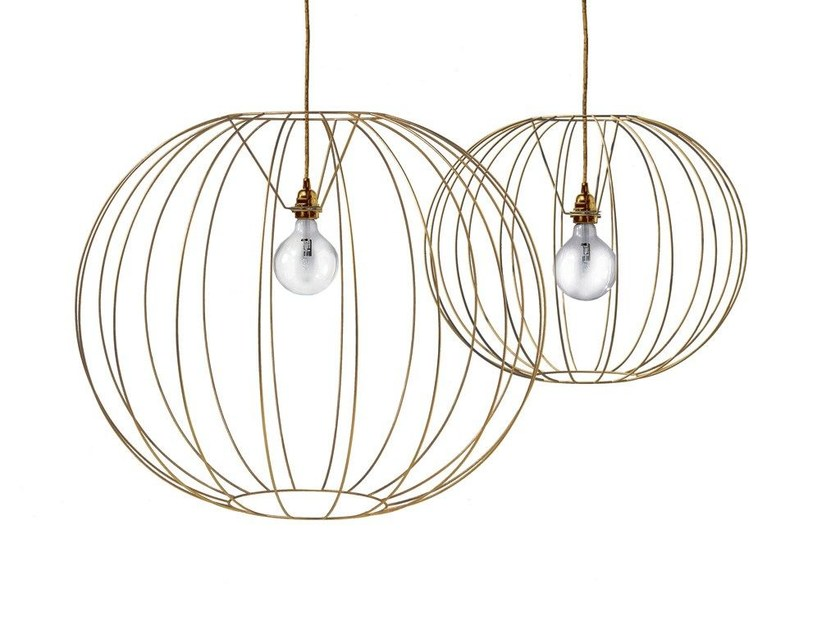 Steel pendant lamp BUBBLE GOLD | Pendant lamp - MissoniHome
