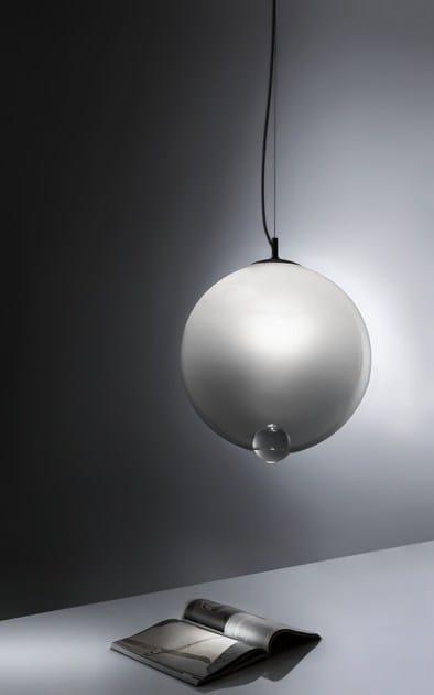 lampada a sospensione in vetro soffiato bubble | lampada a ... - Lampade Arabe Italia