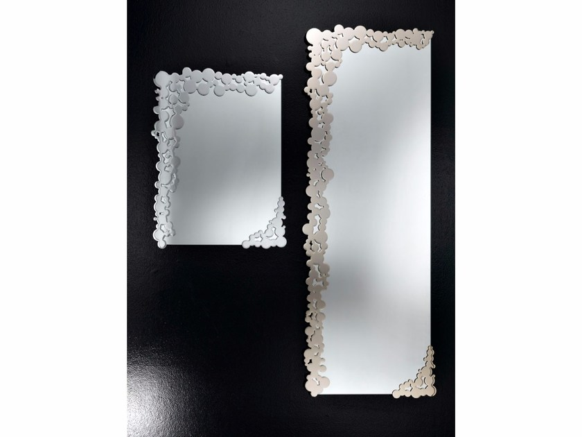 Rectangular wall-mounted mirror BUBBLES | Mirror - IDL EXPORT