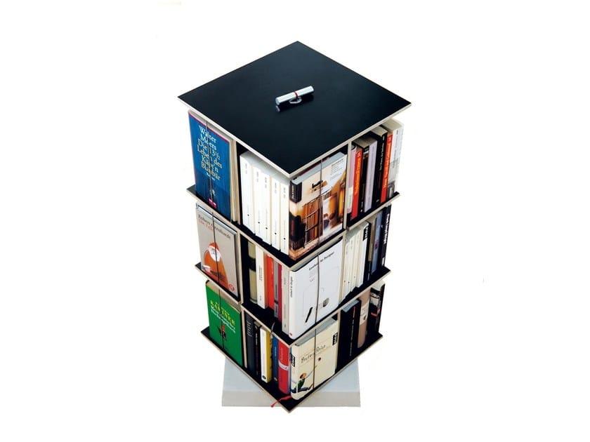 Open swivel bookcase BUCHSTABLER by Nils Holger Moormann