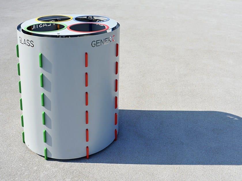 Steel waste bin for waste sorting BUD - LAB23 Gibillero Design Collection