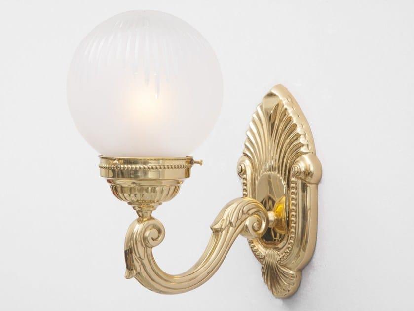 Brass wall lamp BUDAPEST II | Wall lamp - Patinas Lighting