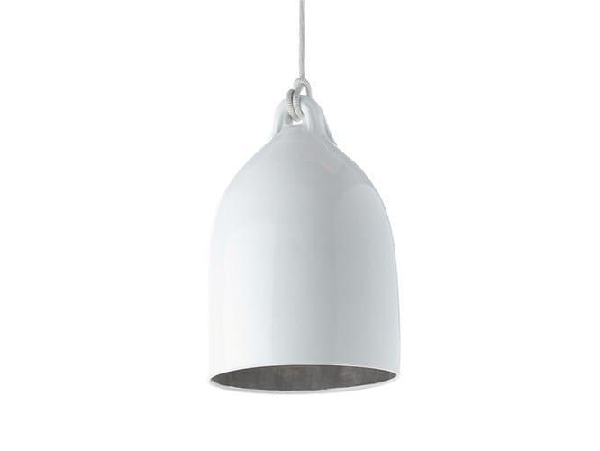 Porcelain pendant lamp BUFFERLAMP SILVER EDITION - Pols Potten